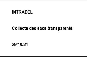 Intradel - Sacs transparents